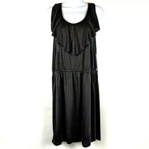 Nicole Miller New York Black Dress Razorback XL